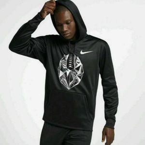 Nike Therma Football Logo Pullover Hoodie